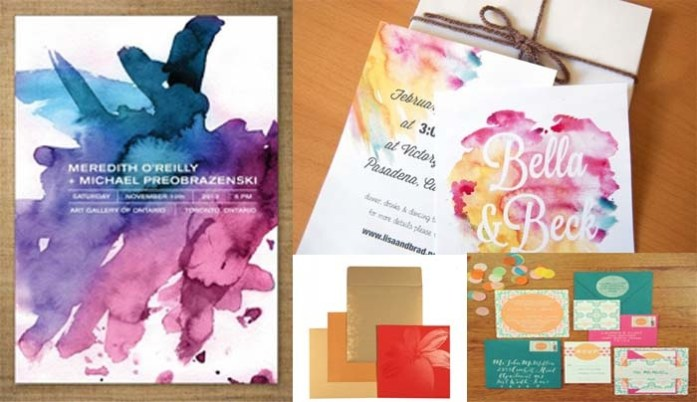 Colorful Wedding Invitations - IndianWeddingCards