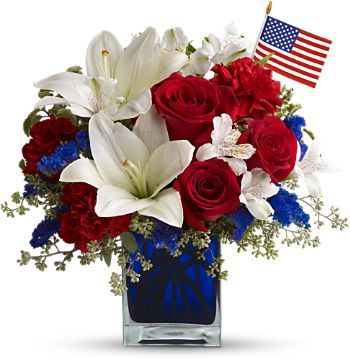 USA Patriotic Theme Floral Alter