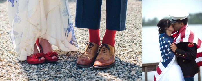 USA Patriotic Theme Wedding Attire