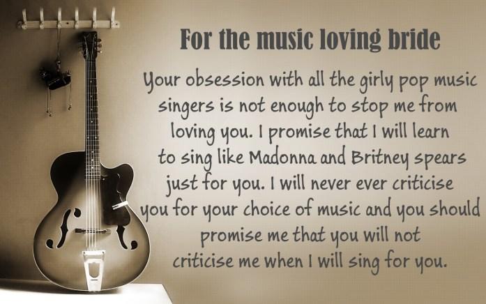 For the music loving bride
