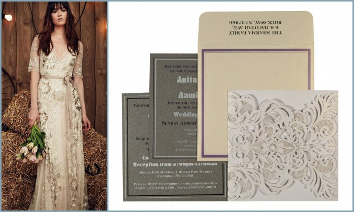 Wedding Dress Invitation Style Ideas - IndianWeddingCards