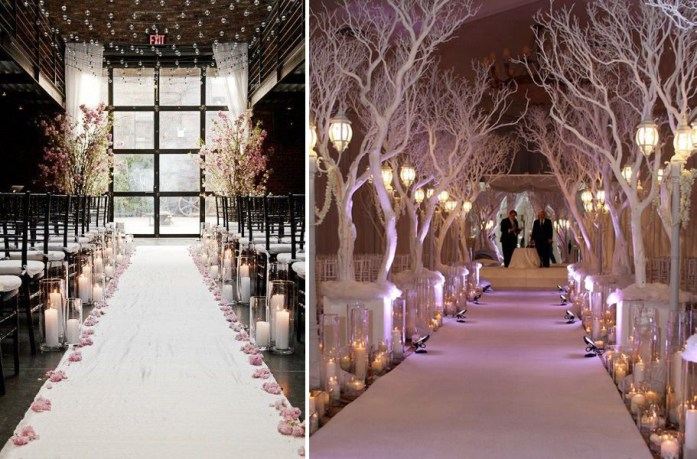 Christmas Inspired Wedding Ideas For Your Winter Wedding Aisle Decorations