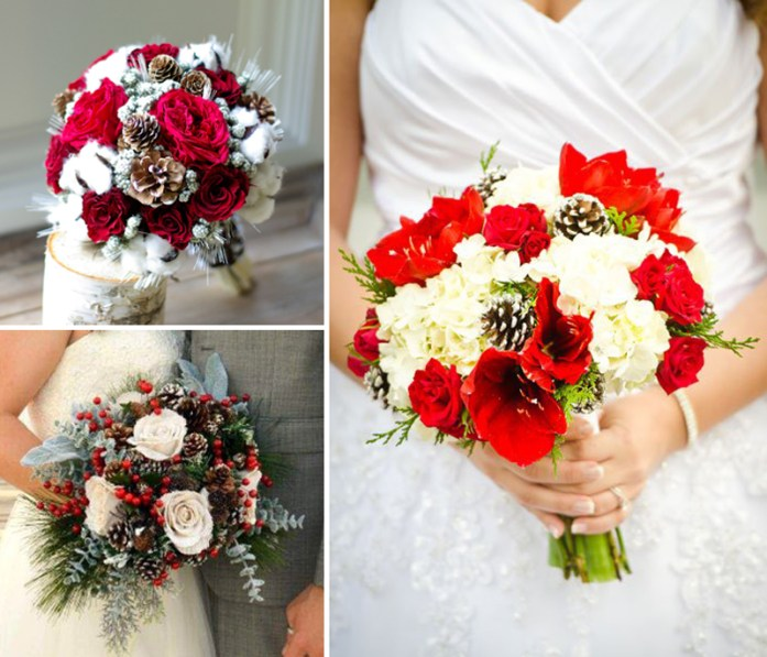 Christmas Inspired Wedding Ideas For Your Winter Wedding Bridal Bouquet