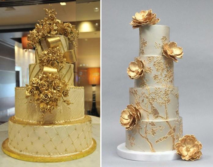Christmas Inspired Wedding Ideas For Your Winter Wedding Golden Cake