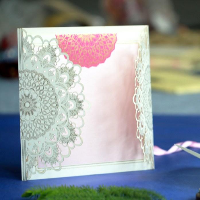 OffWhite Laser Cut Wedding Invitaions