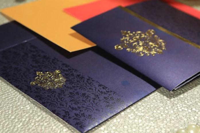 Foil pressed wedding invitations CD-1503