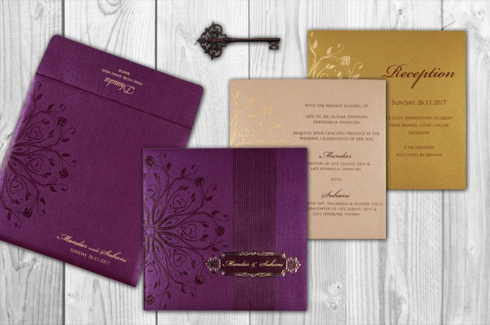 foil stamped wedding invitations CD-1690