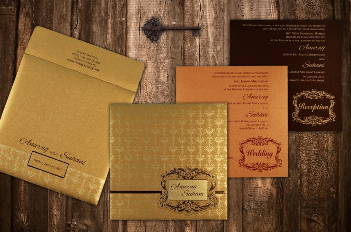 foil stamping wedding invitations CD-1741