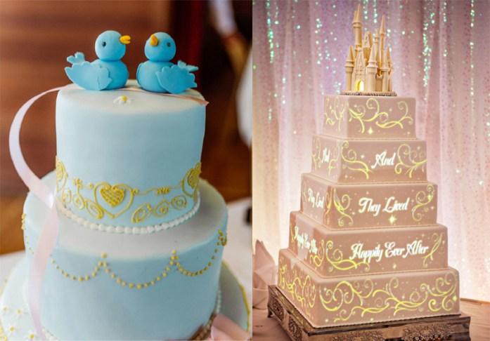 Cinderella inspired wedding cake - Disney Theme Wedding Ideas