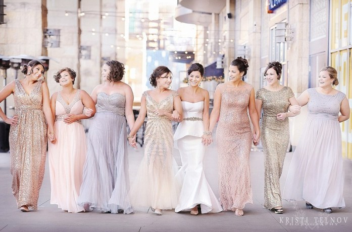 Bridesmaids glitzy dress