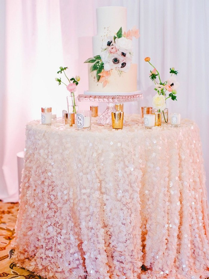 Glitter table decoration
