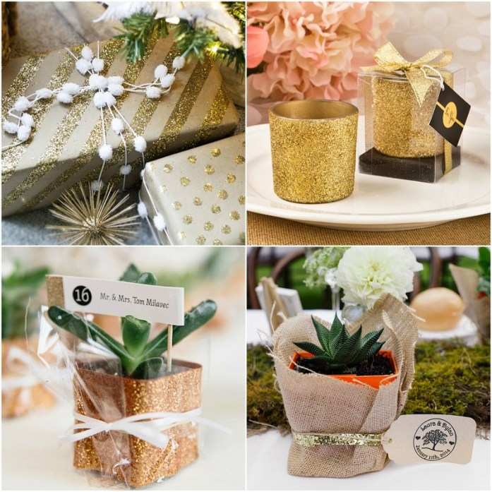 Glitter wedding favors
