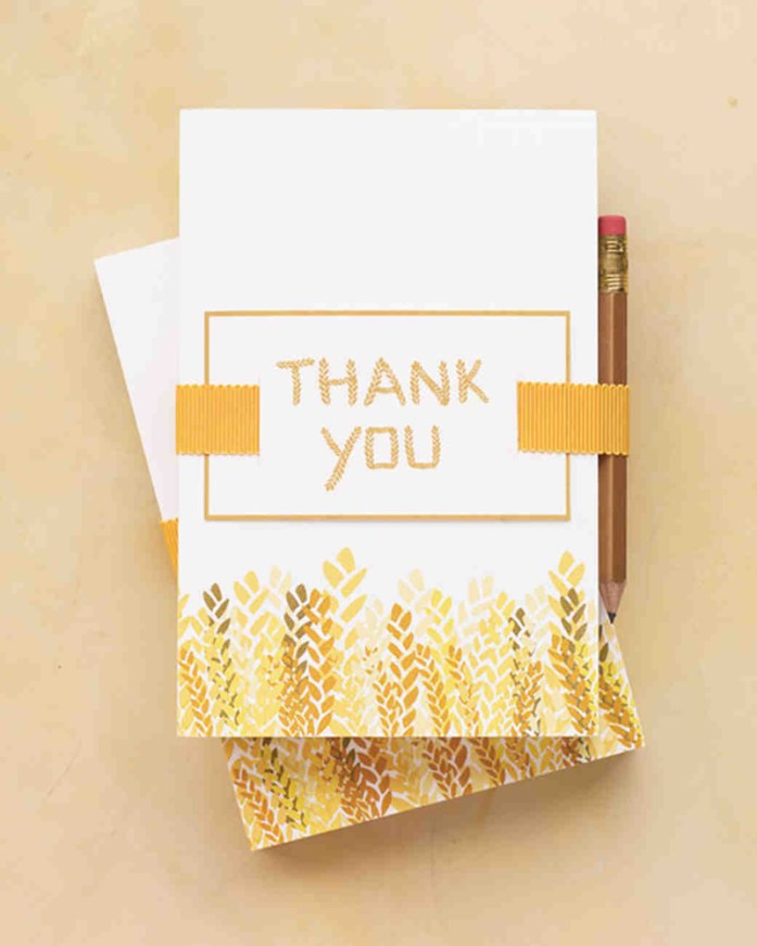 foil stamped thank-you cards