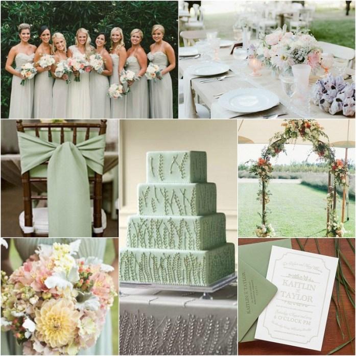 Sage green wedding