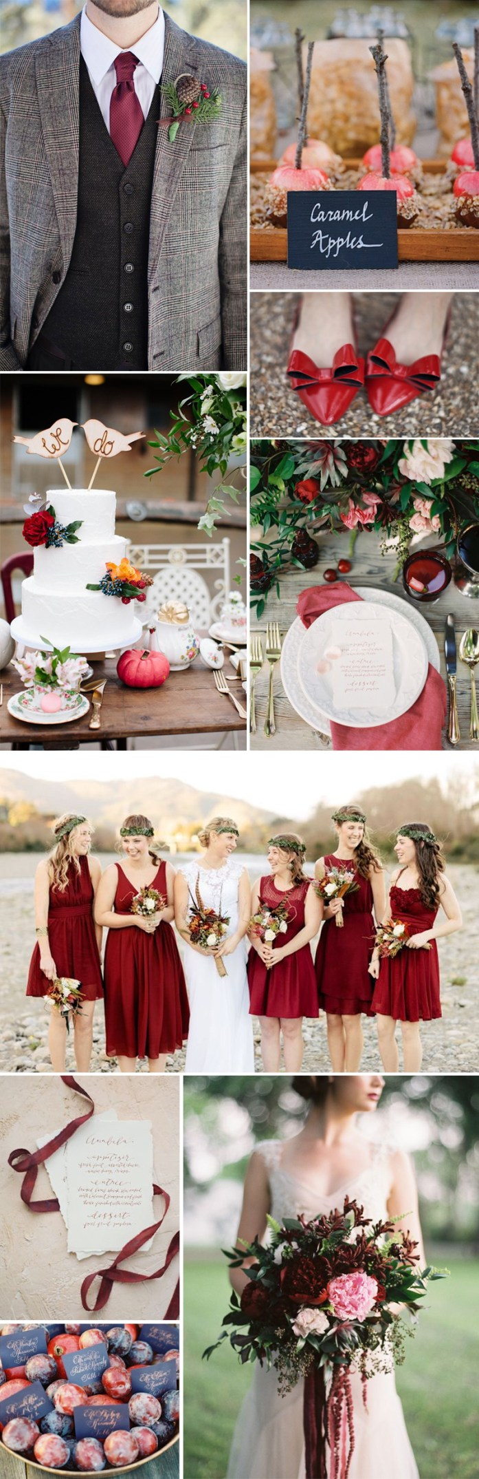 Marsala fall wedding