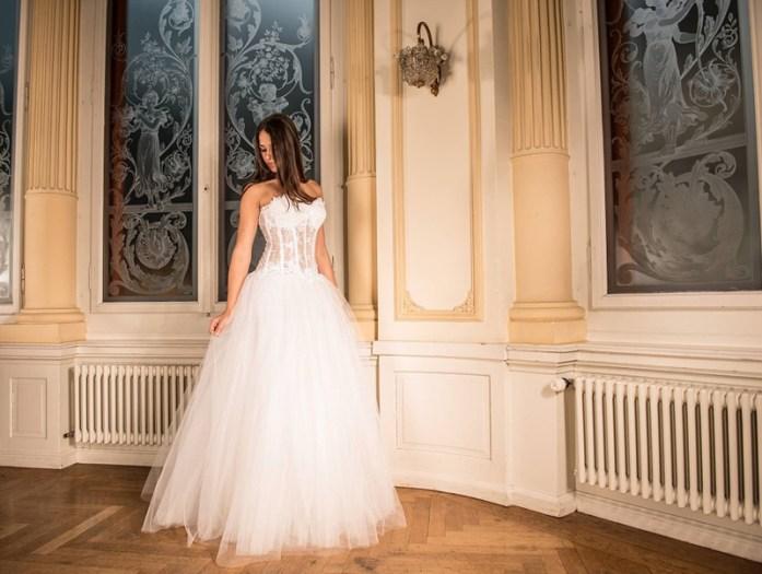 christmas wedding bridal dress