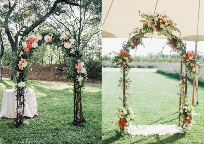 curly and birch willow fall wedding arch