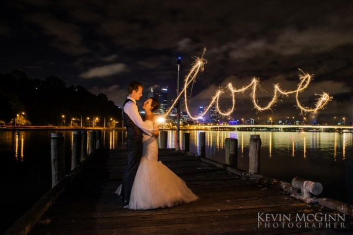 wedding portraits magical with sparklers 2