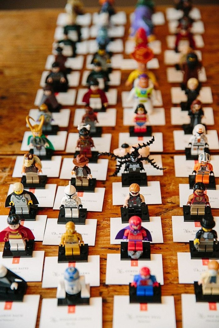 Lego inspired place cards