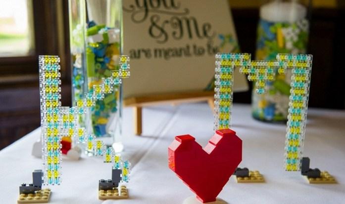 Lego wedding centerpiece