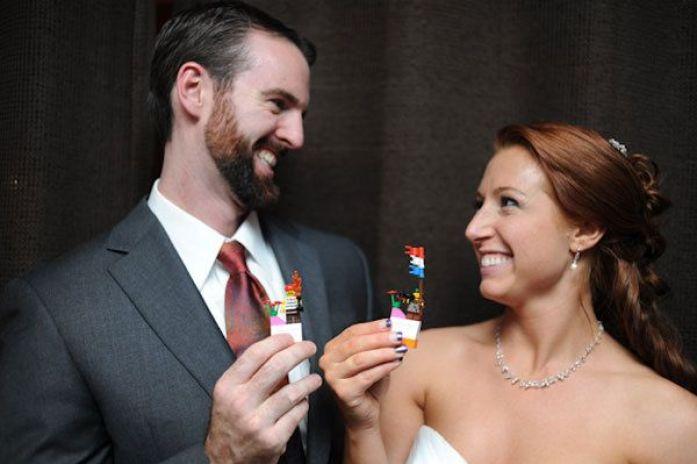 Lego wedding photoshoot with props