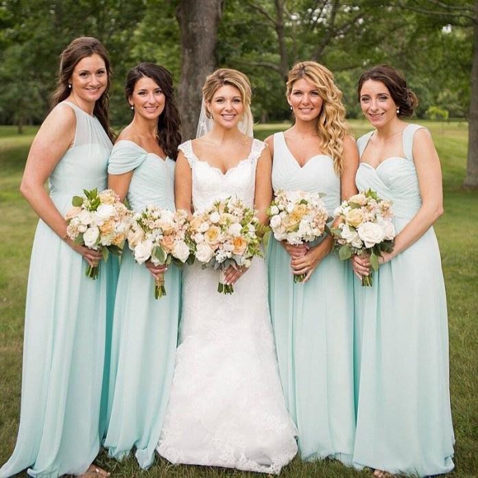 mint wedding bridemaids