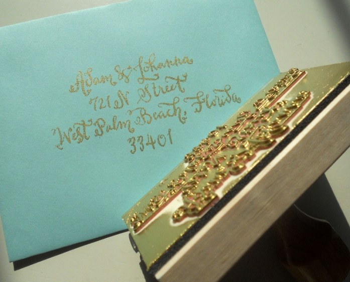 Foil wedding stamp