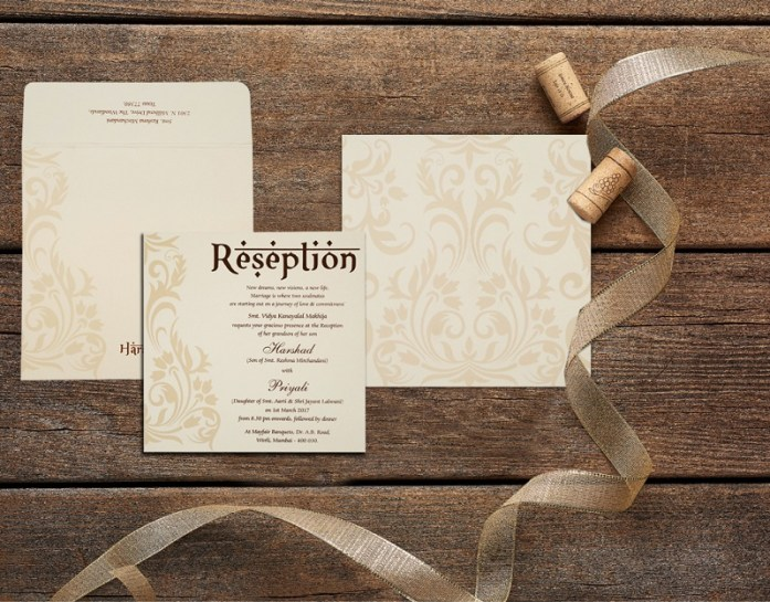 IVORY MATTE WEDDING CARD CD-1739