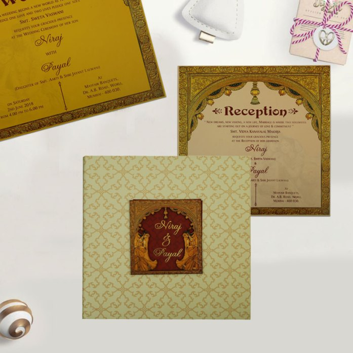 OFFSET PRINTED WEDDING INVITATION CD-1826