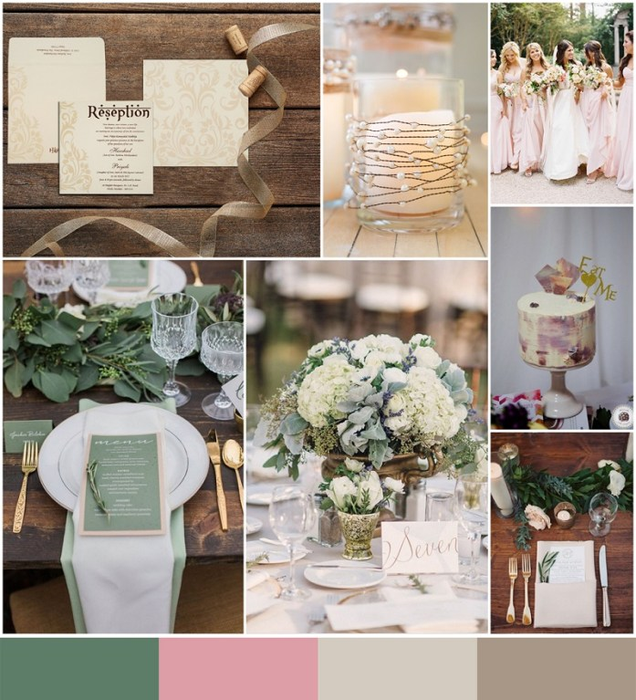 Custom green, Blush, Sugar and Ashwood