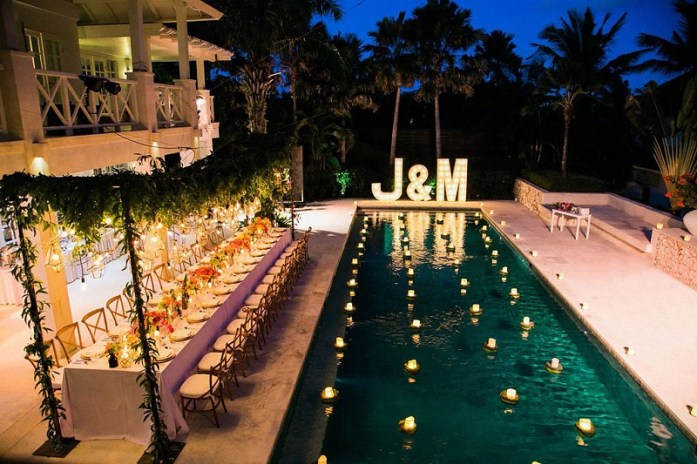 wedding pool side venue