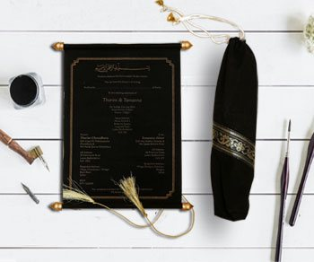 Scroll Wedding Invitations - IndianWeddingCards