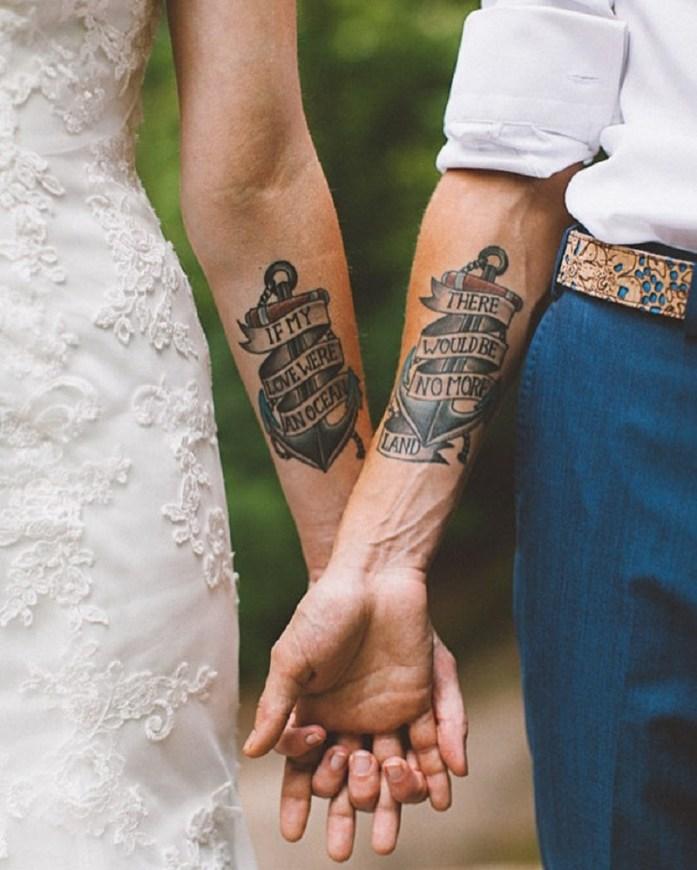 wedding portrait wedding tattoo