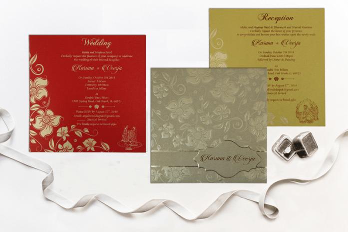 designer Embossed wedding cards CD-1785