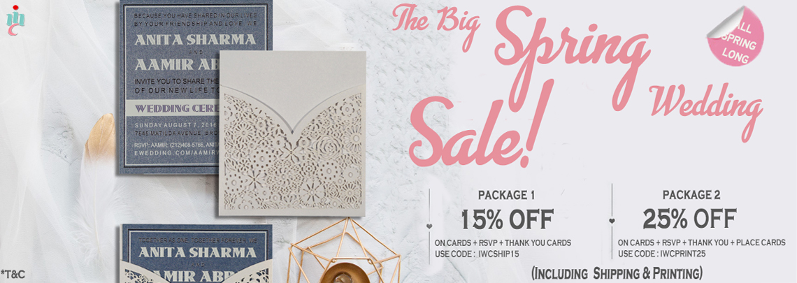 The Big Spring Wedding Sale - IndianWeddingCards