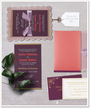 BABY-PINK-SHIMMERY-LASER-CUT-WEDDING-INVITATION : CIN-1589