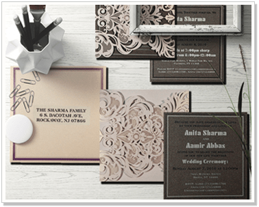 WHITE-SHIMMERY-LASER-CUT-WEDDING-INVITATION : CIN-1592-IndianWeddingCards