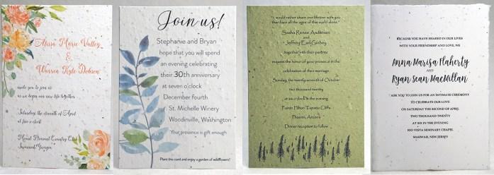 Plantable Wedding Cards