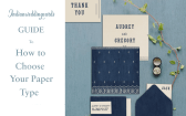 Types of Wedding papers