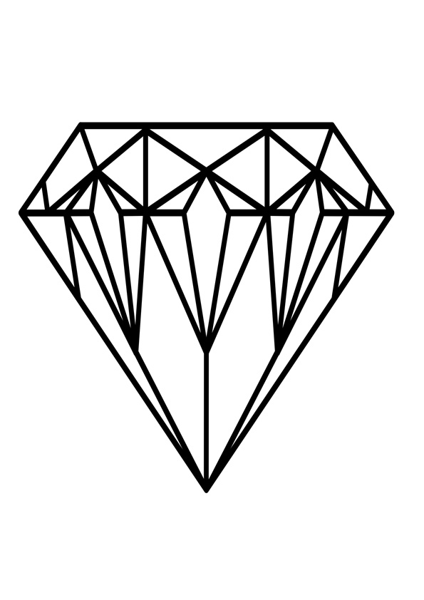 Coloring Pages Diamond Coloring Page