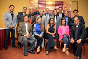 The iCAN Awards Team with guests and invites