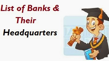 Indian Nationalized banks and their Headquarters