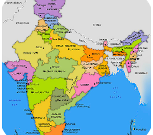 States and Union Territories of India with Capitals