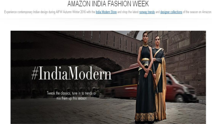 To spice up India Fashion Week, Amazon lines up goodies online