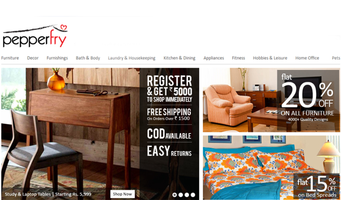 Pepperfry raises Rs 210 crore in new round of funding