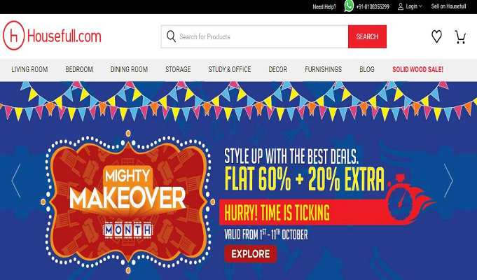 Housefull.com offers discounts in its own unique way