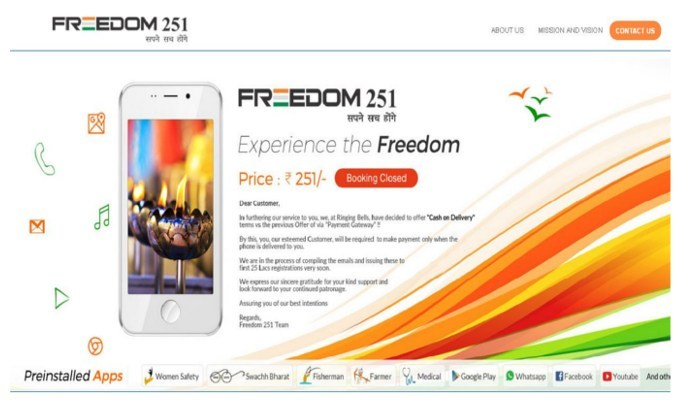 Where has 'Freedom 251', world's cheapest smartphone, disappeared?