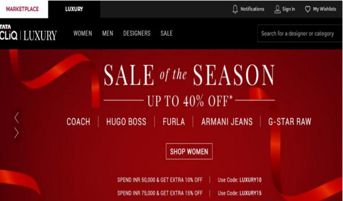 Tata CLiQ launches new luxury fashion, lifestyle portal
