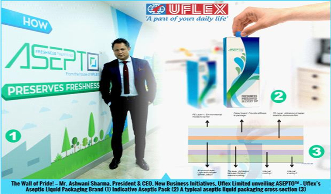Uflex unveils Aseptic Liquid Packaging Brand