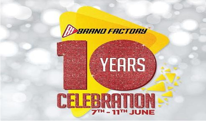 Brand Factory kicks off 10th year celebration with mega offers